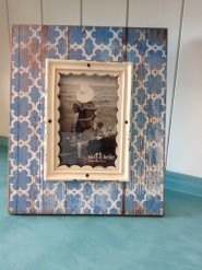 Modern Morocco Blue Photo Frame